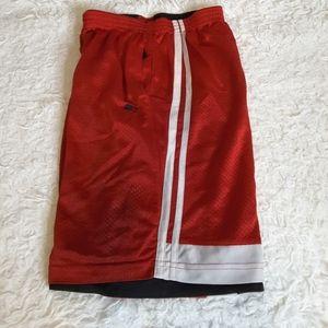 3/$30 Starter black red reversible athletic shorts